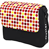 BabyStyle Oyster Changing Bag & Mat in Complementing Multi Spot Red