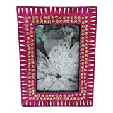 Antique Photo Frame Indian Handmade Beaded Material Home Decor Picture Frame Vintage Style Table Top Photo Frame...