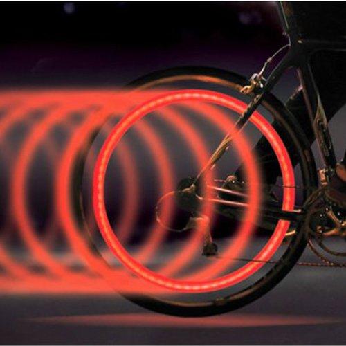 Aode® 4Pcs Bicycle Bike Cycling Car Motorcycle Colorful Sensor Flashing Led Wheel Valve Cap Tire Tyre Light Lamp Auto 190005