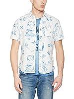 Franklin & Marshall Camisa Hombre (Blanco / Azul)