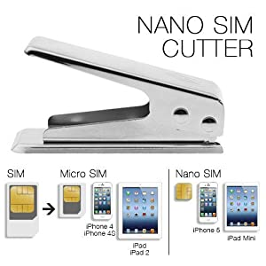 iClever® New iPhone 5 Nano SIM Card Cutter, includes Nano to Standard& Micro Adapters/Converters