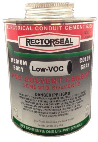 rectorseal-55983-pint-clear-pvc-conduit-633l-low-voc-pvc-solvent-cement