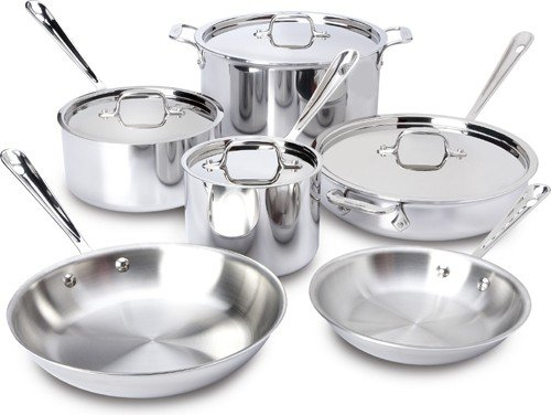 All Clad Stainless Steel 10 Pc Set(401853)