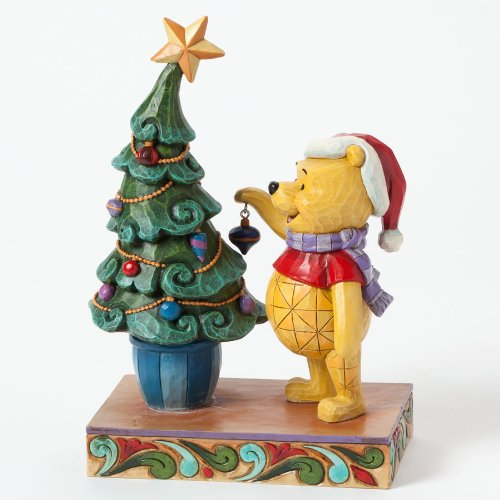 Disney Jim Shore Winnie The Pooh And Piglet Trim The Tree With Me Figurine front-926881