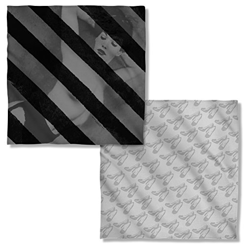 Bettie Page Black Stripes Front & Back Bandana PAG669FBBND