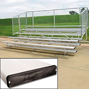 Five-Row Spectator Bleachers w Steel Frames & Railing from Athletic Connection