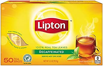 Lipton Decaffeinated Tea 50 Count 12 Boxes 600 Bags Total