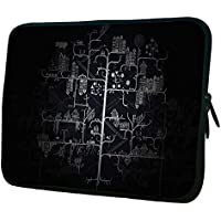 "Snoogg Amazed City 12"" 12.5"" 12.6"" Inch Laptop Notebook Slipcase Sleeve Soft Case Carrying Case For Macbook Pro..."