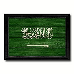 Saudi Arabia National Country Flag Texture Canvas Print, Frame Patriotic Souvenir Gift Ideas office Home Décor Wall Art Livingroom Vintage Decoration Interior Design, 15\