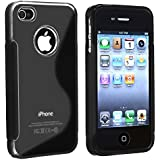 For Apple iPhone 4S/iPhone 4 S-Line Hybrid Case (Black)
