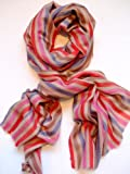 Luxury Stripes Shawl -- Woven in Kashmir in Pure Hand-spun Pashmina -- Available in several colourways