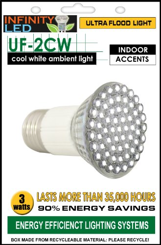 Infinity Ultra Flood Light Bulb - Cool White, 3W