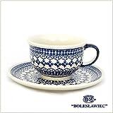 [Boleslawiec/ボレスワヴィエツ陶器]カップ&ソーサー-922(ポーリッシュポタリー)