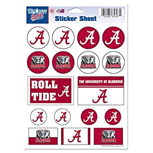 Buy Alabama Crimson Tide Official NCAA 5x7 Sticker Sheet by WinCraft