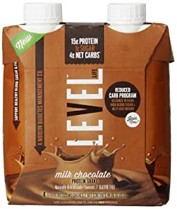 Level Life Protein Shake, Milk Chocolate, 4 Count