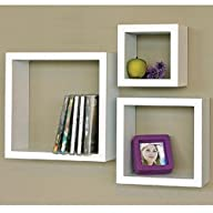 Modern Home 3 Pieces White Square Cub…