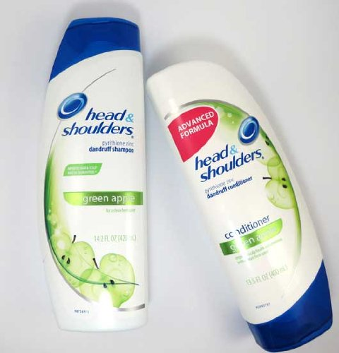 Head & Shoulders Shampoo 14.2oz and Conditioner 13.5oz Green Apple Combo Set **Package May Vary**