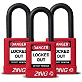 "Zing RecycLock Lockout/Tagout Padlock, Keyed Alike, 1-3/4"" Body Length, 1-1/2"" Shackle Clearance"