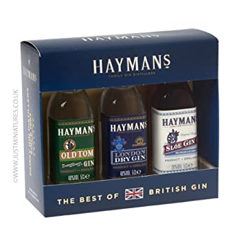 haymans best of british gin gift set containing 3 x 5cl. Black Bedroom Furniture Sets. Home Design Ideas