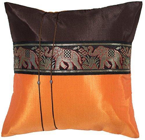 Avarada Striped Elephant Throw Pillow Cover Decorative