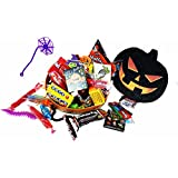 Tricks and Treats ~ Fun Pumpkin Shaped Halloween Gift Boxes ~ Filled with Fun Favors and Assorted Treats (8 oz)