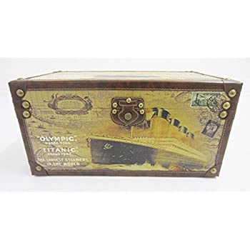 Shabby Chic Vintage Style Olympic & Titanic Ship Design Storage Trunk / Chest / Box - M by PM&PP