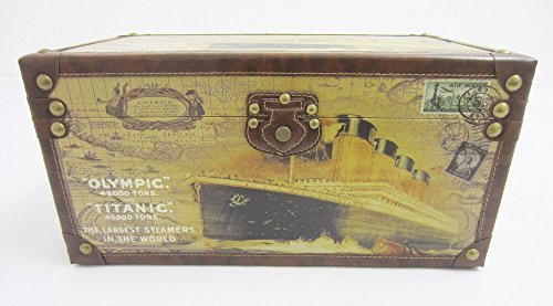 Shabby Chic Vintage Style Olympic & Titanic Ship Design Storage Trunk / Chest / Box - M by PM&PP 0