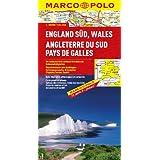 MARCO POLO Karte England Süd, Wales: Mit landschaftlich schönen Strecken und Sehenswürdigkeiten. Übersichtskarte...