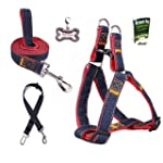 Olivery No-Pull Dog Leash Harness Set...