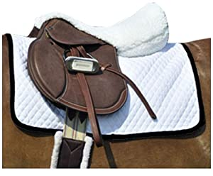 Intrepid International Small Quilted Baby Horse Saddle Pad, White/Black