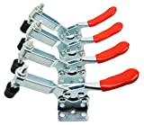 E-TING 4 Hand Tool Toggle 201-B Clamp Red Plast Horizontal Quick Release Pushl Tool
