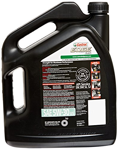 Castrol 03084 EDGE 5W-30 Full Synthetic Motor Oil, 5 Quart Vehicles Parts Vehicle Parts ...