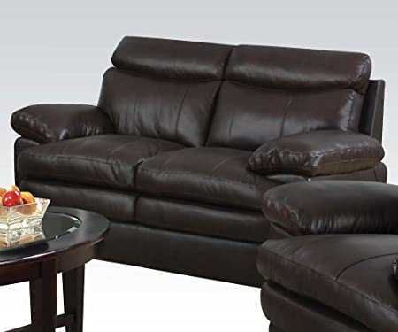 Aldora Loveseat in Brown Finish by Acme Furniture