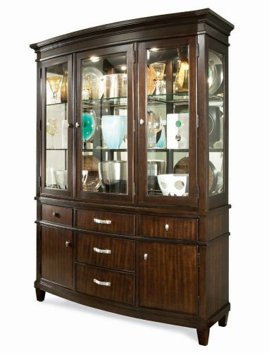 Buy Low Price Universal Buffet w/ Hutch by Universal – Merlot Mahogany (287682R) (287682R)
