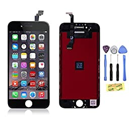 ZTR OEM Black LCD Display Touch Digitizer Screen Assembly Replacement for iPhone 6 Plus 5.5\