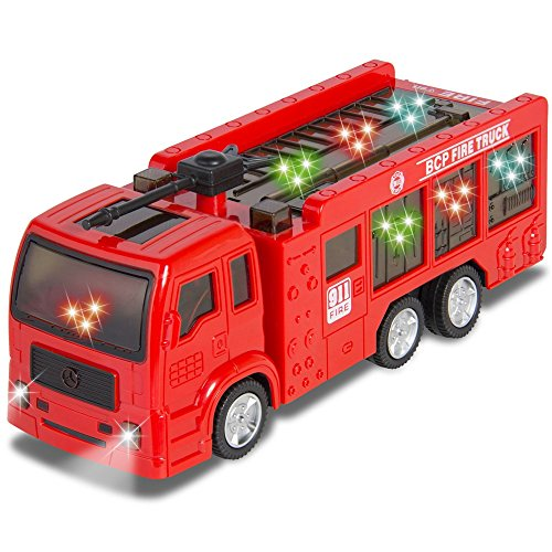 Toy Fire Truck Kids Sound Dual Siren and Lights , Bump and Go Action Electric Flashing (Motorized Couch compare prices)