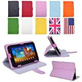 "HDE Universal 7"" Leather Folding Folio Tablet Case Cover (Pink)"