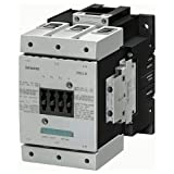 Siemens 3RT1054-1AF36 Contactor, rated at 115 A, 55 kW with a coil voltage of 110-127V with 2 NO + 2 NC auxiliary contacts. Switching Voltage 400 V AC