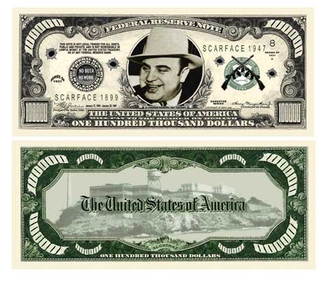 Set of 10 - Al Capone $100,000.00 Bills - 1