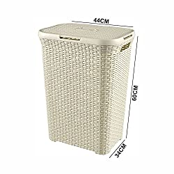 Extra Large Premium Quality Laundry Basket / Bin for Kitchen, Bedroom, Bathroom Storage Basket (Color May Vary) (44 X 34 X 60 CM)