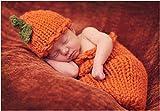 Jastore® Photography Prop Halloween Pumpkins Knitted Crochet Costume Hat Sleeping Bag