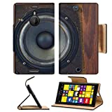 Luxlady Premium Nokia Lumia 1520 Flip Case Photo of Loudspeakers enclosure IMAGE 24589836 Pu Leather Card Holder Carrying