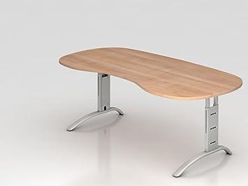 Supporto tavolo C 200x 100cm renale, noce.