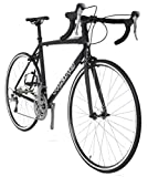 Vilano FORZA 1.0 Aluminum Carbon Shimano 105 Road Bike, Matte Black, 53cm/Medium