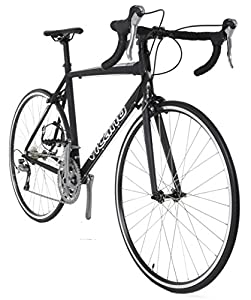 Vilano FORZA 1.0 Aluminum Carbon Shimano 105 Road Bike, Matte Black, 49cm/Small
