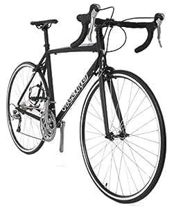 Vilano FORZA 1.0 Aluminum Carbon Shimano 105 Road Bike, Matte Black, 49cm/Small