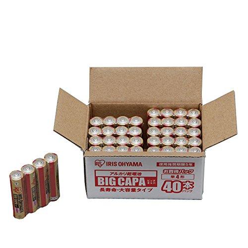 アイリスオーヤマ アルカリ乾電池 BIG CAPA 長寿命・大容量タイプ単4形40パック LR03IRB-40S