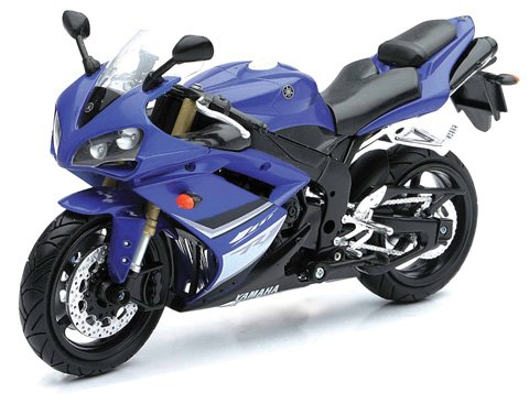 New Ray Toys Street Bike 1:12 Scale Motorcycle YZF-R1 Blue 2008 43103