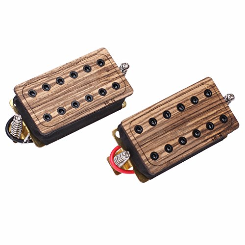 Neewer® Zebra Wood Humbucker Pickup With Screws And Springs For Electric Guitars With Two Conductors Red Black Wire With Srews& Springs