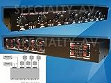 2X6 Matrix Speaker Selector Switch Switcher Volume Level Control 2-AMP 6-ZONE 900-Watt